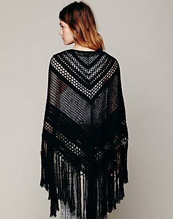 Crochet Poncho, from Free People