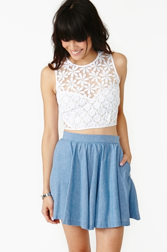 New Romantic Crop Top, Nasty Gal